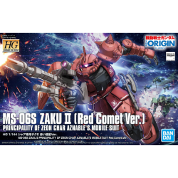 HG (The Origin) MS-06S Zaku II Principality of Zeon Char Aznable's Mobile Suit Red Comet Ver. (024)