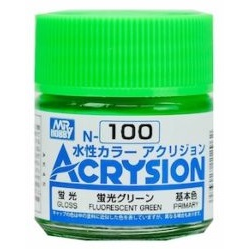 Acrysion N100 - Fluorescent Green (Semi-Gloss/Primary) (N100)