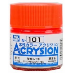 Acrysion N101 - Fluorescent Red (Semi-Gloss/Primary) (N101)