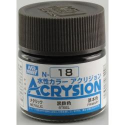 Acrysion N18 - Steel (Metallic/Primary) (N18)