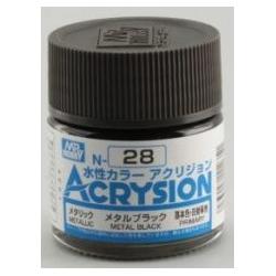 Acrysion N28 - Metal Black (Metallic/Primary) (N28)