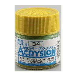 Acrysion N34 - Cream Yellow (Gloss/Primary) (N34)