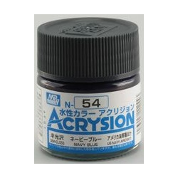 Acrysion N54 - Navy Blue (Semi-Gloss/Aircraft) (N54)