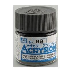 Acrysion N69 - RLM75 Gray Violet (Semi-Gloss/Aircraft) (N69)