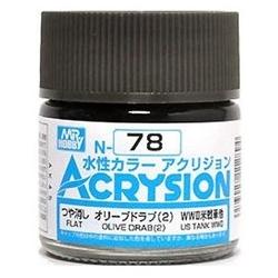 Acrysion N78 - Olive Drab (2) (Flat/Tank) (N78)