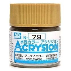 Acrysion N79 - Dark Yellow (3/4 Flat/Tank) (N79)