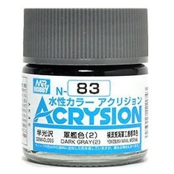 Acrysion N83 - Dark Gray (2) (Semi-Gloss/US Naval Vessel) (N83)