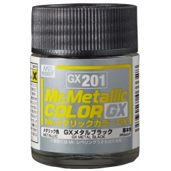 Mr. Color GX 201 - METAL BLACK (METALLIC)