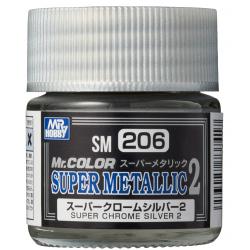 Mr. Color - Super Metallic 2 - SUPER CHROME SILVER 2 - (SM206)