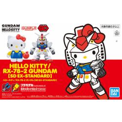 SD BB EX-Stardard Hello Kitty / RX-78-2 Gundam (TOGETHER)