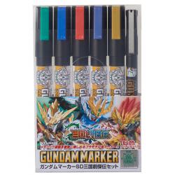Gundam Marker Set - SANGOKU SOKETSUDEN SET (GMS-100C)
