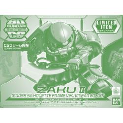 SD Gundam Cross Silhouette Zaku II (Cross Silhouette Frame Ver.) (Clear Color)