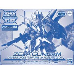 SDCS MSZ-006 Zeta Gundam (Cross Silhouette Frame Ver.) (Clear Color)